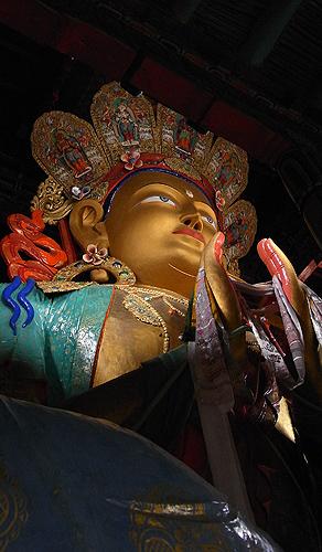Maitreya Buddha at Thiksey Gompa